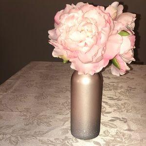 rose gold floral decor handmade Euc .